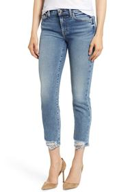 7 For All Mankind Luxe Vintage Roxanne Rip Hem Ank