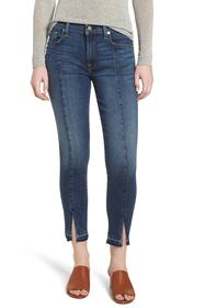 7 For All Mankind Front Seam Slit Released Hem Ank