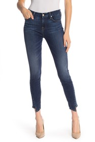 7 For All Mankind Spliced Hem Ankle Skinny Jeans