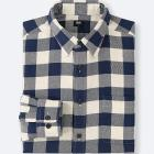MEN FLANNEL CHECKED LONG-SLEEVE SHIRT