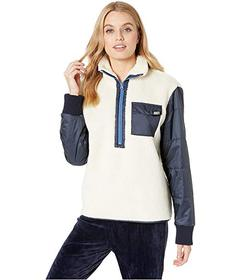 Juicy Couture Sherpa and Nylon Mixed Embroidered J