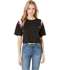 Juicy Couture Nylon and Jersey Contrast Mix Tee