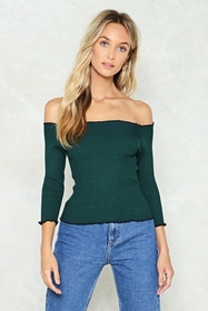Edge Your Bets Off-the-Shoulder Top
