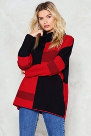 Knit While the Going is Good Colorblock Sweater