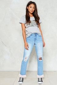 Filled to the Trim Distressed Jeans
