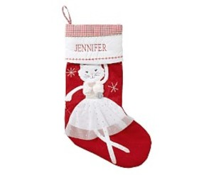 Dancing Kitty Quilted Stocking