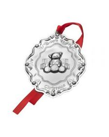 Baby's First Christmas Sterling Ornament Teddy Bea