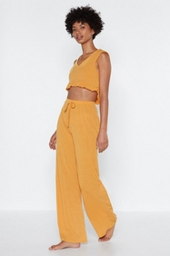 Looks Best Worn on the Sofa Crop Top and Pants Set