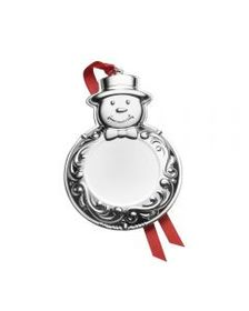 2018 Silver Plated Engraveable Ornament 6th Editio
