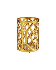 7.5 Inch Gold Metal Candle Holder