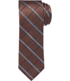Reserve Collection Windowpane Plaid Tie - Long CLE