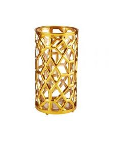 10 Inch Gold Metal Candle Holder