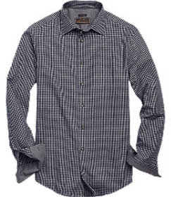 Reserve Collection Tailored Fit Spread Collar Chec