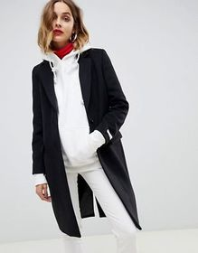 Gianni Feraud slim tailored coat with contrast col