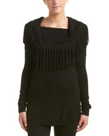 Ella Moss Ella Moss Fringe Wool-Blend Sweater~1411