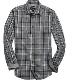 Reserve Collection Tailored Fit Spread Collar Plai