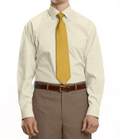 Traveler Traditional Fit Pinpoint Solid Spread Col