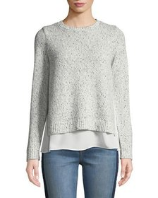 Club Monaco Kaelane Mixed Media Pullover Sweater