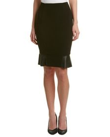 NISSA NISSA Leather-Trim Pencil Skirt~1411245313