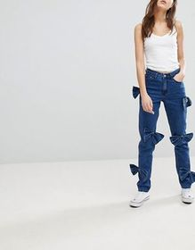 Glamorous Mom Jeans With Bow Details