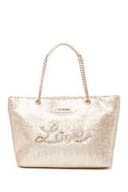 LOVE Moschino Sequin Tote Bag