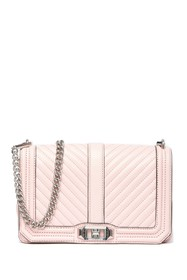 Rebecca Minkoff Chevron Quilted Leather Love Cross
