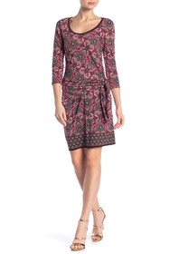 Max Studio Long Sleeve Cinched Side Dress