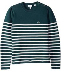Lacoste Milano Striped & Buttoned Sweater (Toddler