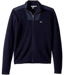 Lacoste Full Zip Sweater with Nylon Details (Toddl