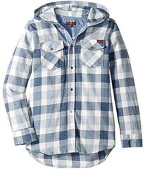 7 For All Mankind Flannel Plaid Hooded Sport Shirt