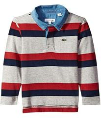 Lacoste Striped Rugby Shirt (Toddler/Little Kids/B