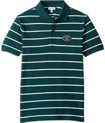 Lacoste Short Sleeve Striped Heritage Lacoste Badg