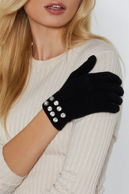 Diamantes are a Girls Best Friend Knit Gloves