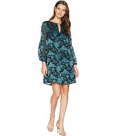 Vince Camuto Novelty Puff Sleeve Shift with Keyhol