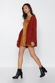 Come Round Cable Knit Cardigan
