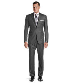 Signature Collection Traditional Fit Stripe Suit C