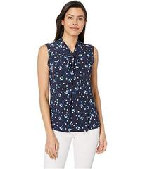 Tommy Hilfiger Printed Knot Neck Knit Top