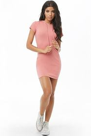 Ribbed Hooded Dress