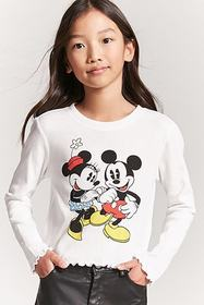 Girls Minnie & Mickey Mouse Top (Kids)