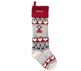 Ice Skater Natural Fair Isle Stocking