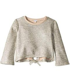 Splendid Littles Lurex French Terry Back Tie Top (