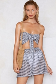 Here Sheer is Gingham Cover-Up Shorts