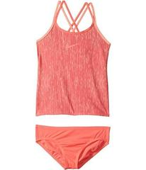 Nike Rush Heather Spiderback Tankini Set (Big Kids