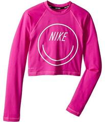 Nike Long Sleeve Crop Hydroguard (Big Kids)