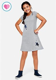 Star Sequin Sweatshirt Dress