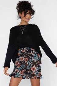 Make a Grow of It Floral Skirt