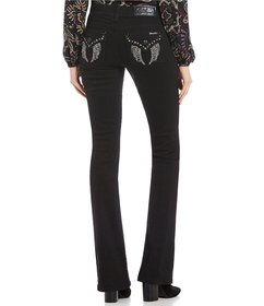 Miss Me Jeweled Wing Pocket Bootcut Jeans