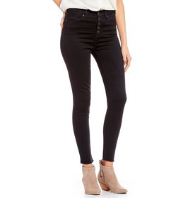 Celebrity Pink Exposed Button High Rise Skinny Jea