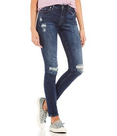 Silver Jeans Co. Suki Destructed Ankle Skinny Jean