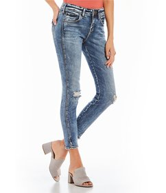 Silver Jeans Co. Avery Relaxed-Fit Acid-Wash Ankle